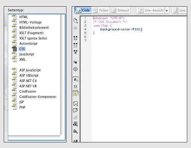 CSS: Gestaltung einer Navigation