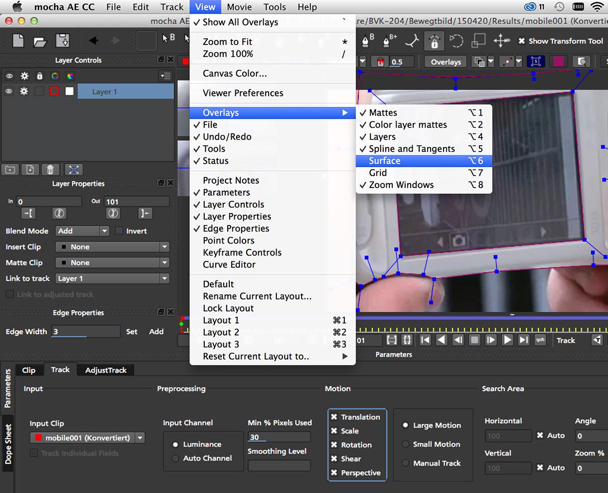 Bewegtbild AfterEffects CC: Motion Tracking